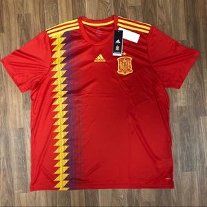 ⚽️ NWT Spain National Team Adidas Soccer Jersey